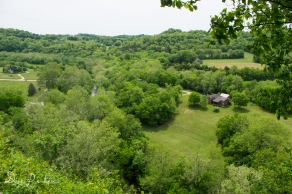 Overlook of Hickman Creek Valley (that's the Hickman Creek Nature Center's Conference Center on the right)